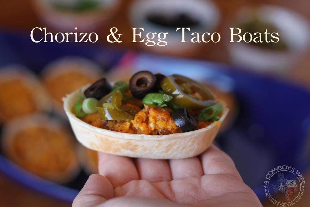 Chorizo & Egg Taco Boats Big Game Appetizer