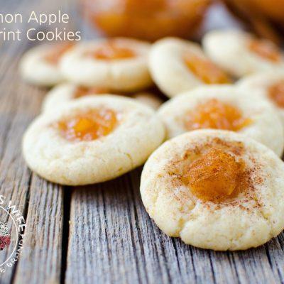 Easy 3 Ingredient Cinnamon Apple Thumbprint Cookies