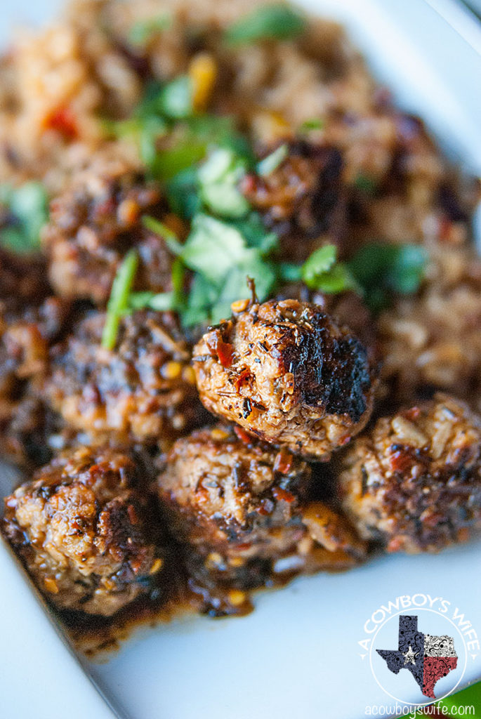 Slow Cooker Jerk Pork Meatballs
