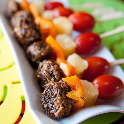 Leftovers Recipe: Slow Cooker Jerk Pork Meatball Skewers