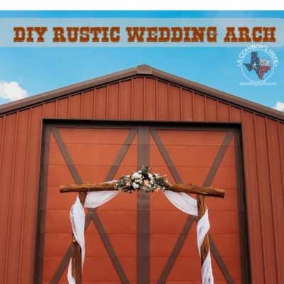 Rustic DIY Wedding Arch Made from Cedar Trees