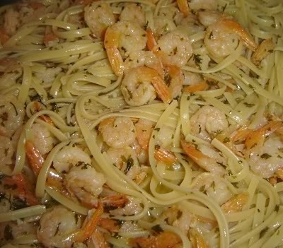 Buttery Shrimp Scampi with Linguine