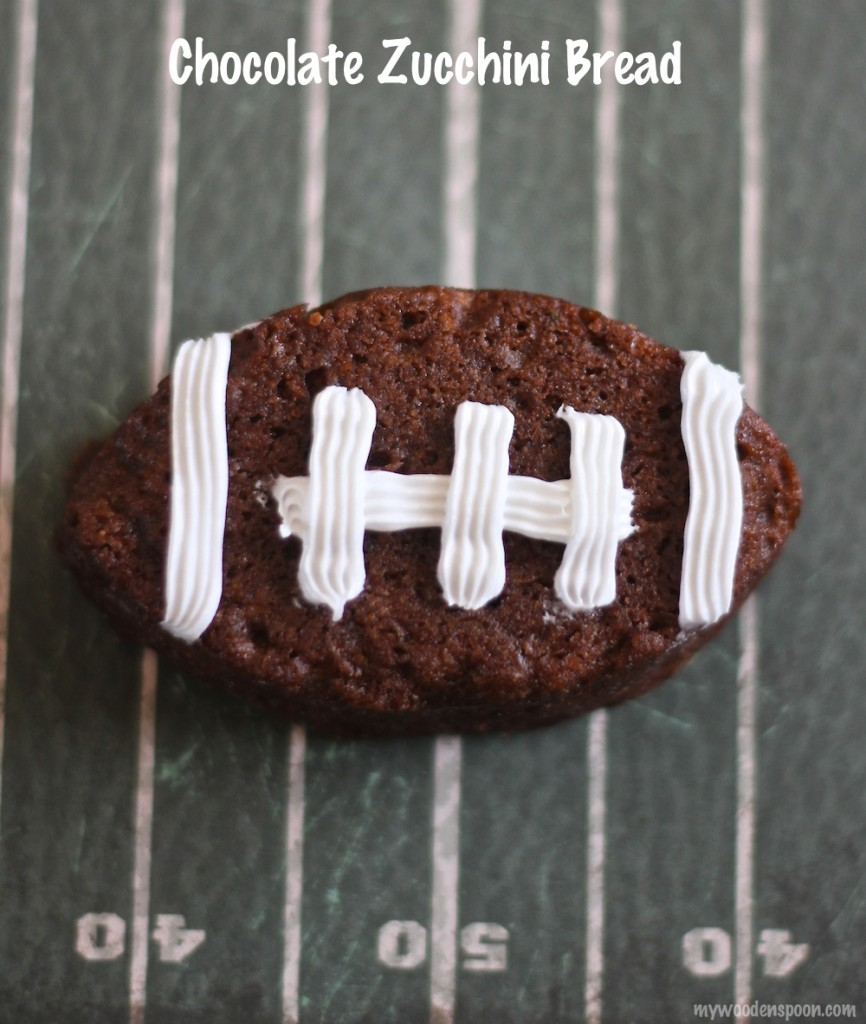 Chocolate Zucchini Bread Footballs