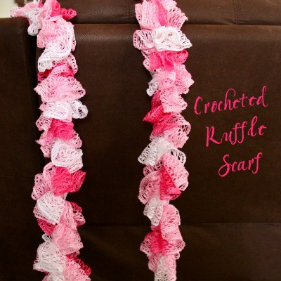 Easy Crocheted Ruffle Scarf