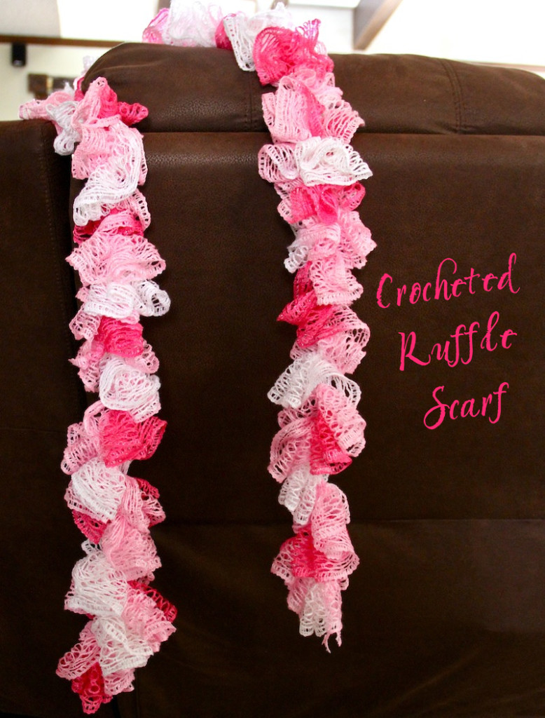 Easy Crocheted Ruffle Scarf A Cowboys Wife