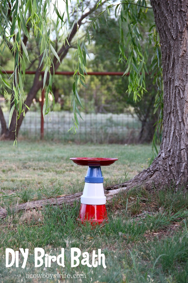 DIY Bird Bath Summer Project