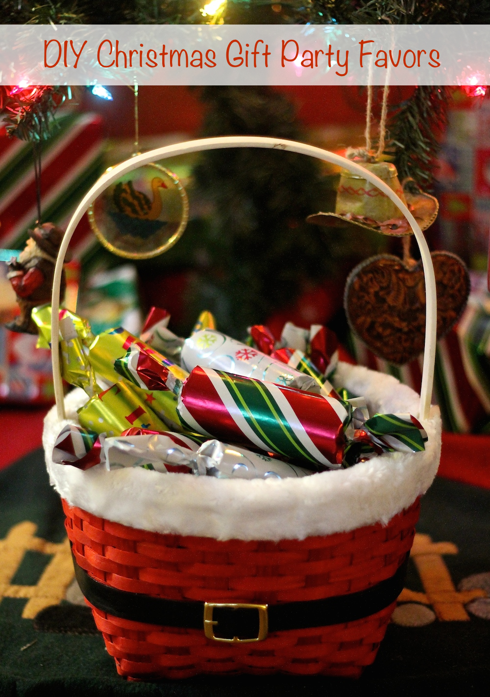 DIY Christmas Gift Party Favors