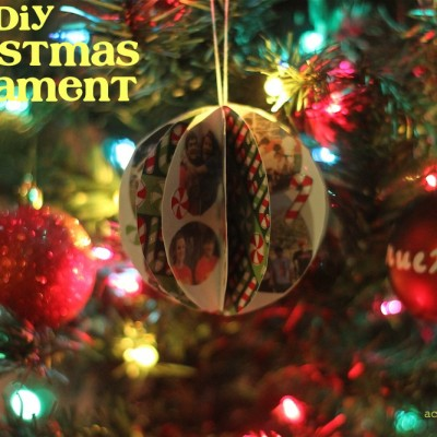 DIY Christmas Memory Ornament