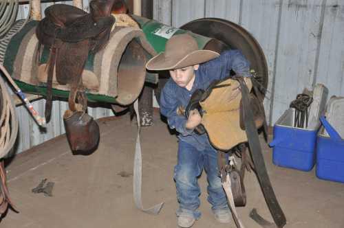 cowboy and saddle