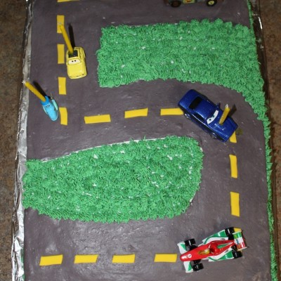 Truett's 5th Birthday 'Car' Cake, Wilton Style