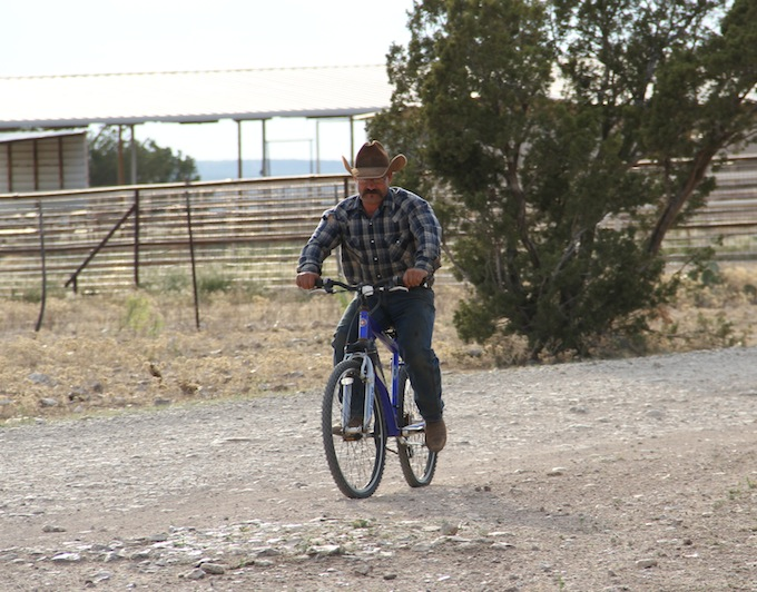 cowboys ride bikes