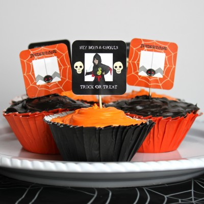Cupcake Photo Toppers for Halloween