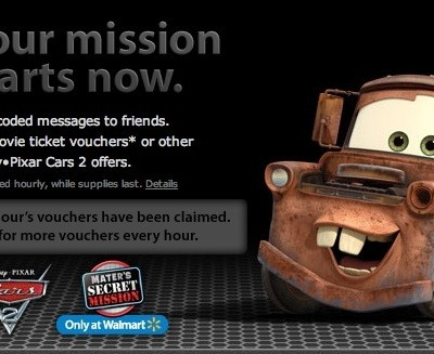 Cars 2, Mater's Mission, and Fun Prizes!