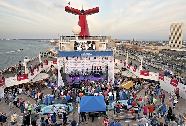 Carnival Freedom honoring Miltary Families with Martina McBride