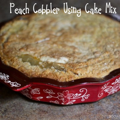 Peach Cobbler Using Cake Mix Wrapped in Temp-Tations
