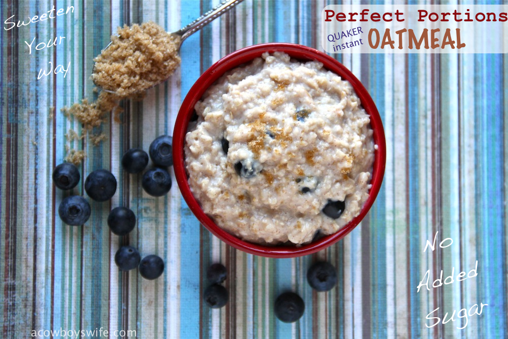 Quaker Instant Oatmeal Perfect Portions
