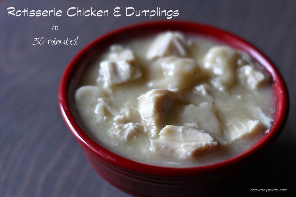 Rotisserie Chicken and Dumplings