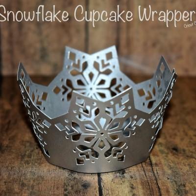 Cricut Craft – Snowflake Cupcake Wrapper Tutorial