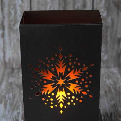 Cricut Crafts: Snowflake Luminary Tutorial
