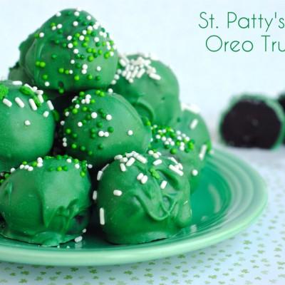 St Patrick's Day Oreo Truffles
