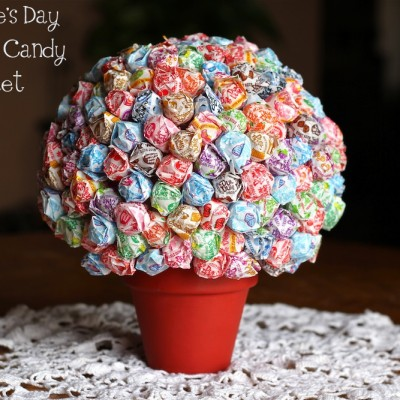Valentine's Day Dum Dums Candy Bouquet