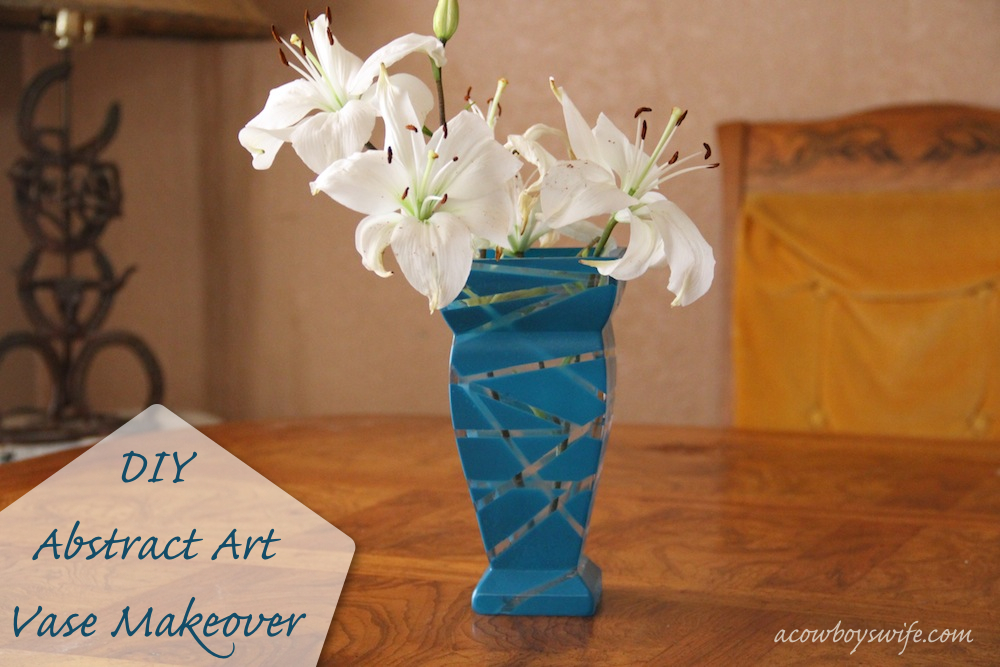 abstract art vase makeover