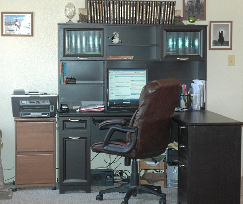 office depot desk makeover, before and after - a cowboy's wife