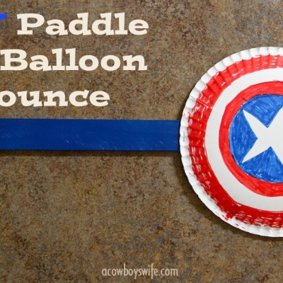 Kid Activities – DIY Paddle for Balloon Bounce Game!
