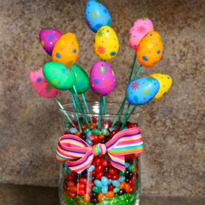 Easter Egg Bouquet in Candy-Filled Jar, Filled with Inspiration
