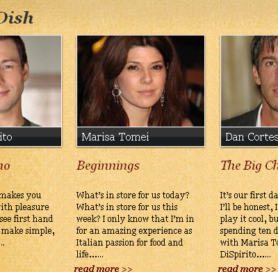 Me, Marisa Tomei, Dan Cortese, and Rocco Dispirito