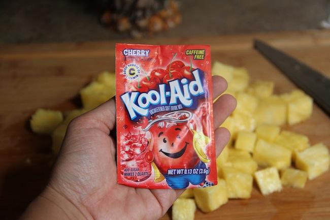 pineapple snack with koolaid