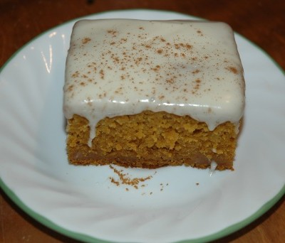 Pumpkin Cake with Cream Cheese Icing