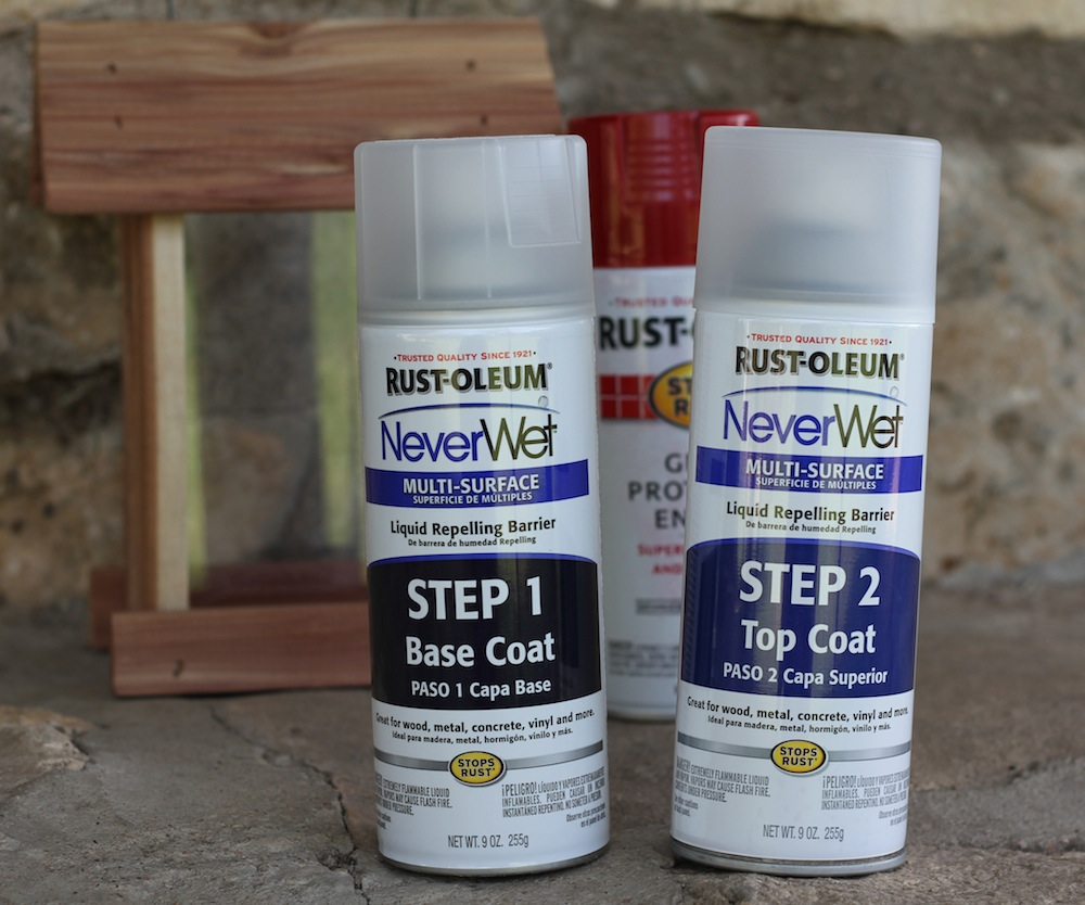rust oleum neverwet spray is awesomeness in a can a. Black Bedroom Furniture Sets. Home Design Ideas