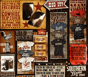 Southern Brand -the south, outlaw, alt country music, blues, bbq, Americana