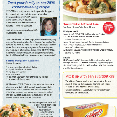 Taste of Home Talks Casseroles and Includes My Shrimp Stroganoff Dish!