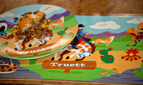 Ride 'em Cowboy Plate and Placemat combo