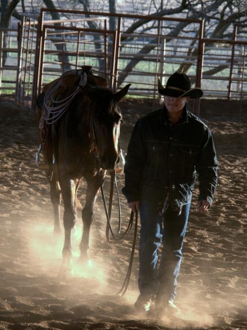 Cowboy working