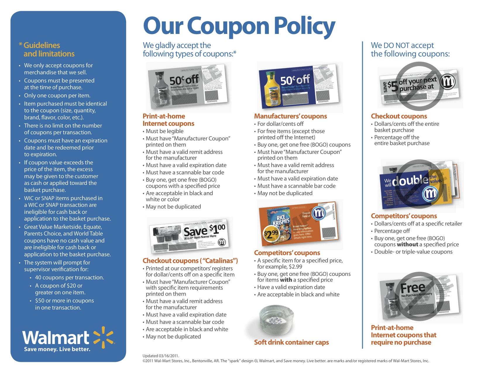Nevada walmart coupon policy